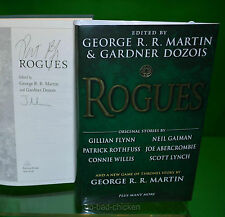Signed x3 ROGUES George RR Martin Patrick Rothfuss Joe Abercrombie Carrie Vaughn