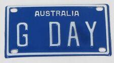 GDAY G'DAY NOVELTY NAME MINI TIN AUSTRALIAN LICENSE NUMBER PLATE