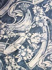 Hoffman Bali Chop Art Deco Floral Smoke Batik Fabric Yard