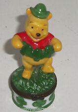 Disney Winnie the Pooh Porcelain Hinged Trinket Box March St Patricks Day Green