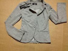 FASSEN Blazer Jacket Womens Light Grey Small 10 Casual BNWT $49 NEW Lighweight
