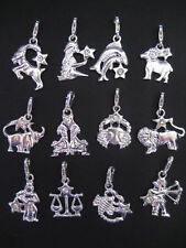 Clip On Silver Plated Star Sign with Crystal Charm