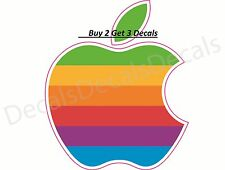 "Apple Rainbow Sticker  Decal FREE SHIPPING Mac Book IPhone 3x3.5"" AAPL Itunes"
