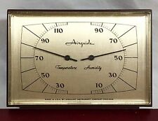 Vtg AIRGUIDE Thermometer Humidity Indoor Desk Top Faux Wood Grain NICE!