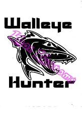 VINYL DECAL STICKER WALLEYE HUNTER...FISHING...CAR TRUCK WINDOW