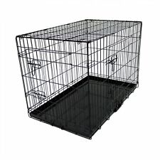 "NEW! 36"" Folding Metal Dog Cage Puppy Transport Crate Pet Carrier"