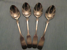 SET 4 SOUP SPOONS! Vintage LIFETIME CUTLERY stainless: LCU64 pattern: LOVELY!