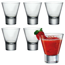 6x bormioli rocco ypsilon verre cocktail dessert tumbler glasses drinking cups