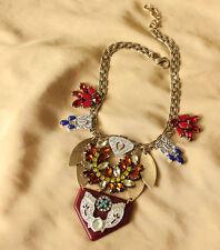 Collar Mujer Multicolor Flor Cristal Estilo Moderno Noche JCR 14