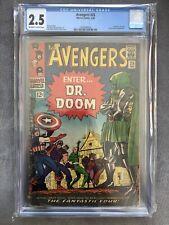Avengers #25 CGC 2.5 1966 Silver Age Marvel Comic Book Dr Doom Fantastic Four