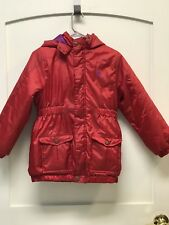 Kids Timberland Winter Coat Red Purple Zip Up Snap Up Size Large