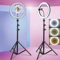 "8''/10"" LED Ring Light Studio Video Photo Lighting Lamp+1.2m Tripod+Phone Holder"