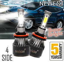 Upgrade 2x H11 Cree Led Headlight Bulbs 4 Sides 2200W 26000Lm High or Low Beam