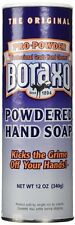 (LOT OF 12) Boraxo / Borax Powdered Hand Soap, 12 Oz. Shaker Top Canisters, NEW!