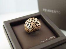 PESAVENTO Jaipur Ring 925er Silber goldplattiert & schwarzer Keramik+Box&Papiere