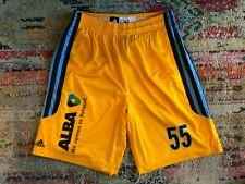 Alba Berlin authentic Adidas player issue basketball shorts #55 (size: XLT)