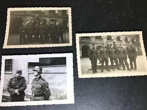 3 orig. Fotos Kasernenhof in Theresienstadt Januar 1941 Terezín Tschechien