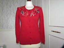 Motif Floral Rouge Cardigan Taille S Par Tulchan
