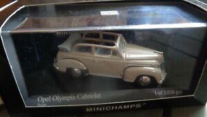 Minichamps 1:43, Opel Olympia Cabriolet, beige, limitiert, wie NEU