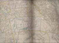 Manitoba & Northwest Territory Century Atlas 1897 Antique Map #63 11 3/4 x 16