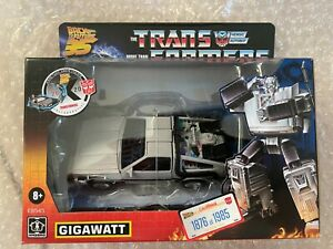 Transformers Back to the Future Delorean Gigawatt Walmart Exclusive #out of 1985
