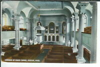 CG-073 MA, Boston, Interior of Kings Chapel Divided Back Postcard Massachusetts