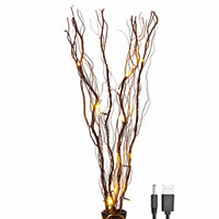 Lightshare Upgraded 36Inch 16LED Natural Willow Twig Lighted Branch for Home USB
