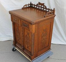 Charmant Fancy Antique Oak Sewing Machine Cabinet With Arlington Machine