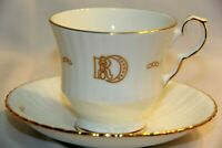 Royal Windsor Fine Bone China England Tea Cup and Saucer Set Gold Trimming