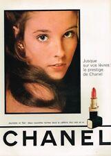 Q- Publicité Advertising 1969 Cosmétique maquillage rouge à lèvres Chanel