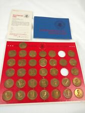 1968 Presidential Hall of Fame 35 Coins Solid Bronze Complete Set Franklin Mint