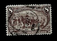 US 1898 SC # 289 8 c Trans-Mississippi Used - Light Cancel - Crisp Color