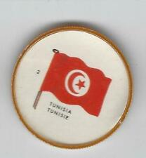 1963 General Mills Flags of the World Premium Coins #2 Tunisia