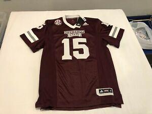 NWT $120.00 Adidas Mens Mississippi State Dak Prescott Football Jersey Sz MEDIUM