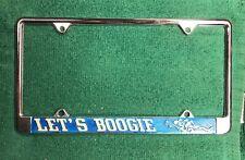 2 Boogie van vintage license plate frame NOS 70s Let's boogie shagging wagon