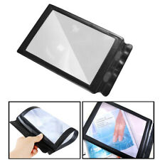 A4 Full Page 3x Magnifier Sheet LARGE Magnifying Glass Book Reading Aid Lens New