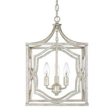 Capital Lighting 9481AS Blakely 3 Light Foyer Fixture, Antique Silver Chandelier