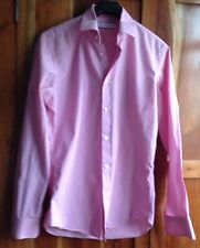 Men's French Connection Pink stripped shirt 15 inches fitted