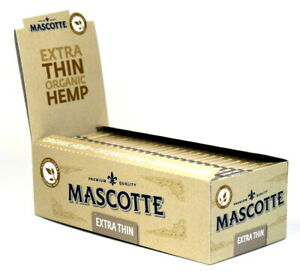 Mascotte Extra Thin Rizla Cigarette Rolling Papers Organic Hemp Unbleached