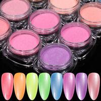 1G Nagel Pulver Fluoreszierend Glitzern Nail Powder Gradient Nail Art Pigment