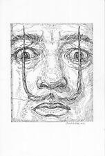 original drawing 20 x 30 cm 149SAn art samovar ink male portrait Salvador Dali