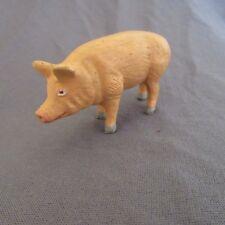 245F Jouet Ancien Durso? Starlux? Animal de Ferme Le Cochon H 3,7 cm