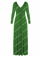 New Womens Long Sleeve Twisted Knot Maxi Dress Ladies Party Evening Bridesmaid