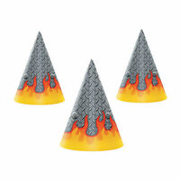 Monster Truck Party Cone Hats - Party Supplies - 8 Pieces