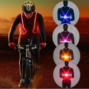 360 Reflective LED Flash Driving Vest High Visibility Night Cycling Running