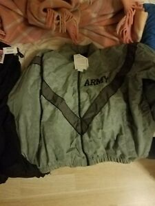 US Army Military Physical Training Fitness PT Uniform Top Sweat Jacket New XL