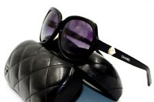 New CHANEL Black Perle Collection Sunglasses 5141H c.501/3C Round Oversized Case