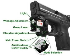 Green Laser Light Combo for Walther  PPQ PPS PPX PK380 P99 Taurus Millenium