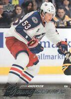 2015-16 Upper Deck Hockey #217 Josh Anderson YG RC Columbus Blue Jackets