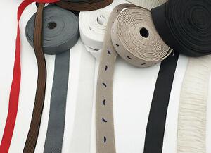 15mm FLAT WOVEN ELASTIC / STRETCH TAPE BLACK BELTS SEWING  DRESSMAKING WAISTBAND